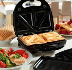 Сендвичница Sandwich Maker Crownberg CB 1074 4 in 1 (Серая)